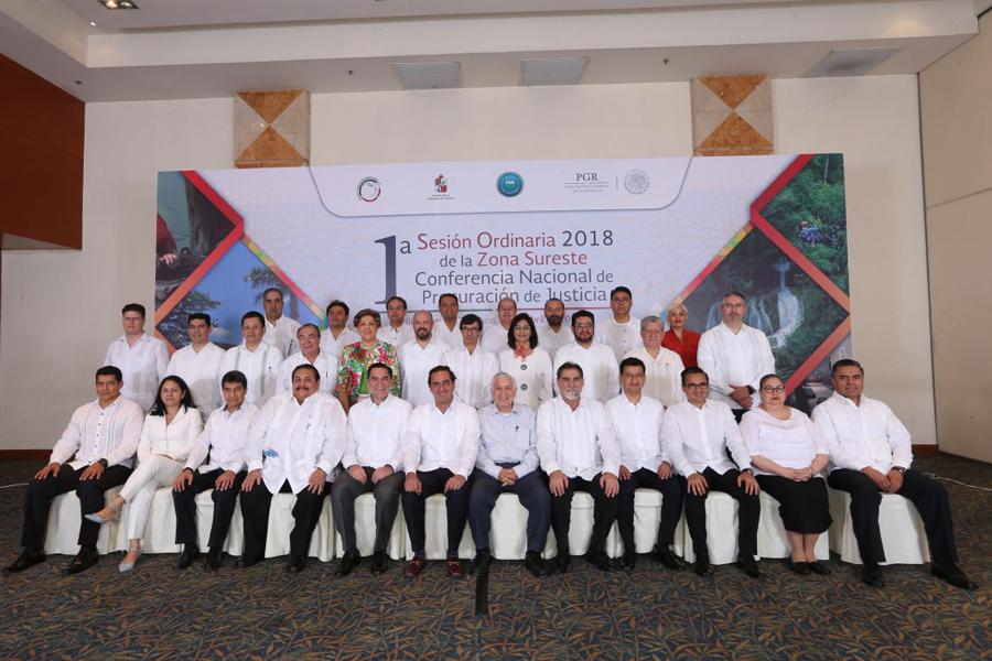 1a Sesión Ordinaria 2018 de la Zona Sureste de la Conferencia Nacional de Procuración de Justicia
