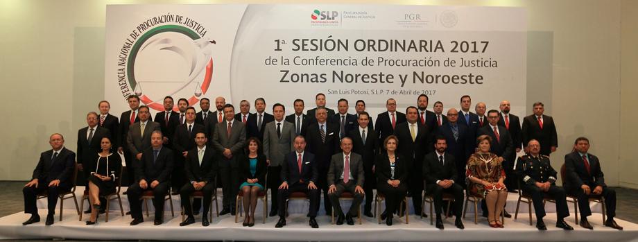 1a Sesión Ordinaria 2017 de la Conferencia de Procuración de Justicia de las Zonas Noreste-Noroeste